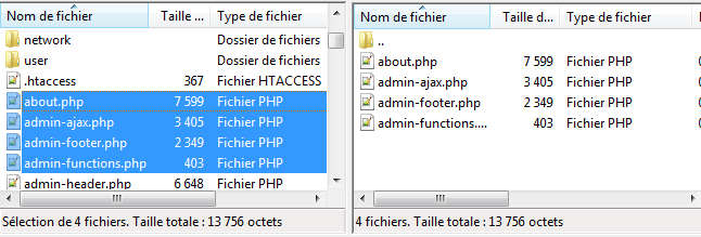FileZilla - Transfert vers distant